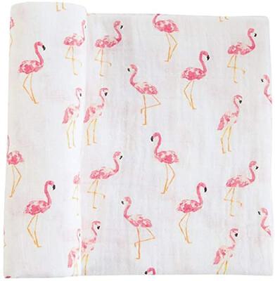 Flamingo Muslin Blanket