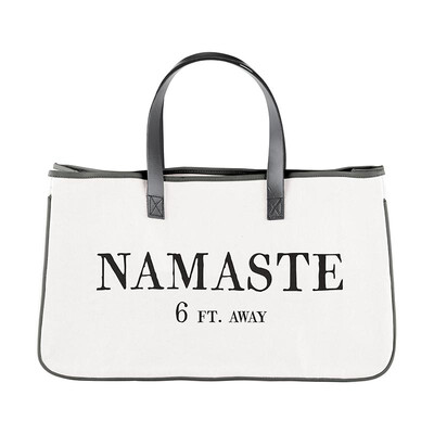 """Namaste"" canvas tote"