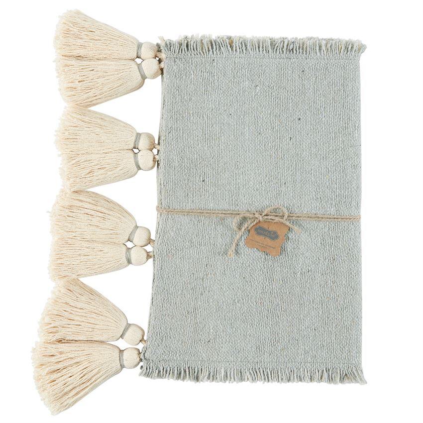 Grey woven table Runner