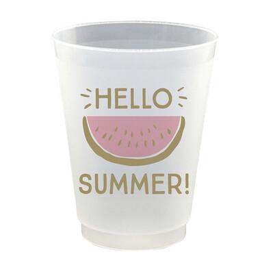 """Hello Summer"" Cups"
