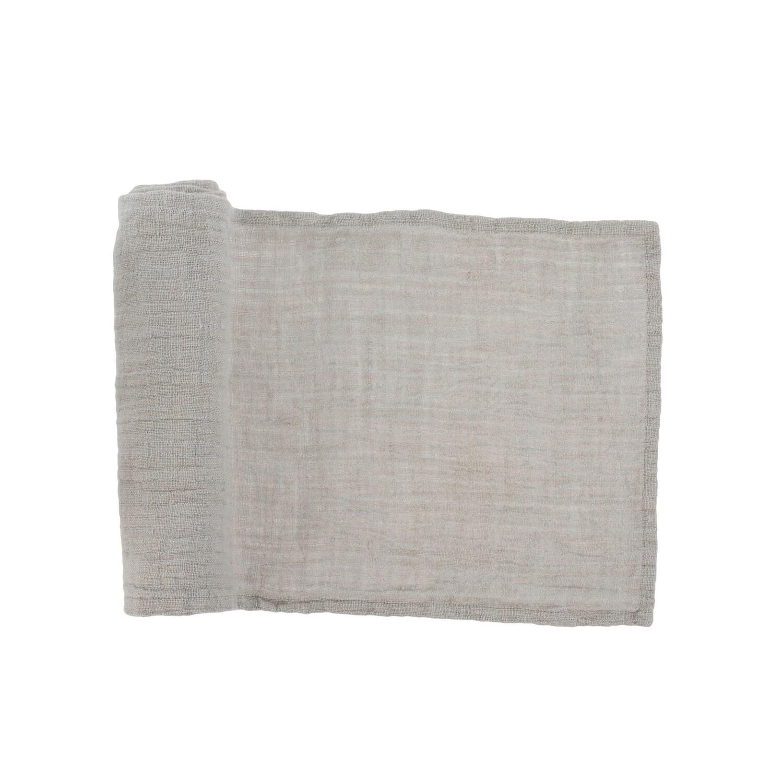 Grey Linen Table Runner