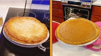 Chicken Pot Pie and Pumpkin Pie Combo