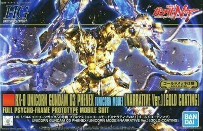 RX-0 Unicorn Gundam 03 Phenex Gold Plate NT