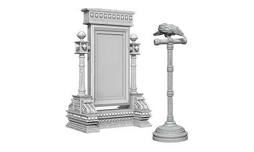 Mirror And Bird On Stand 73367