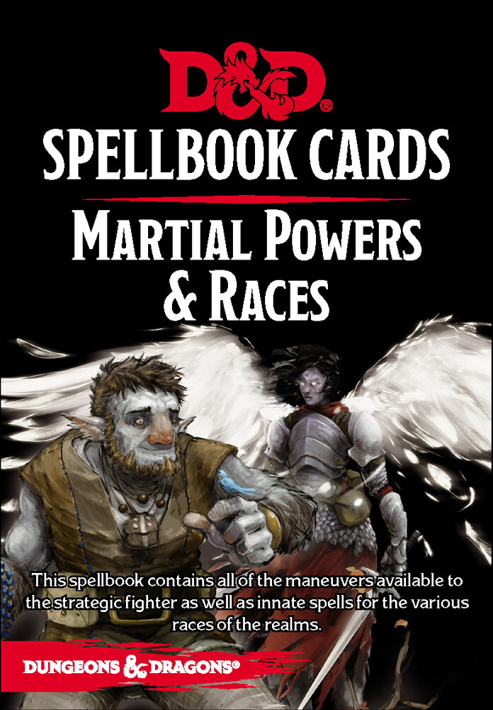 D&d Spellbook Cards- Martial Powers & Races