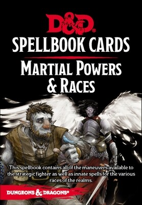 D&d Spellbook Cards- Martial Powers & Races