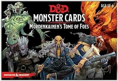 D&D Mordenkainen's Tome Of Foes Monster Cards