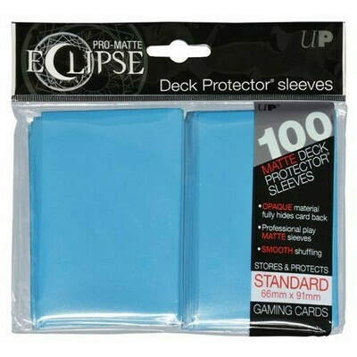 PRO MATTE ECLIPSE SLEEVES 100 COUNT LIGHT BLUE