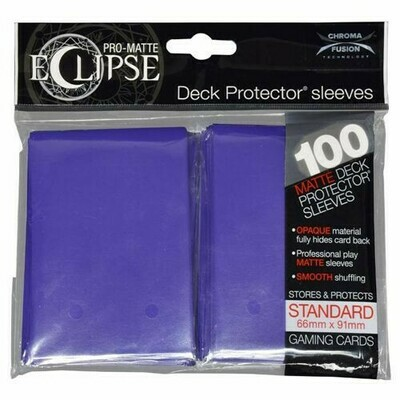 PRO MATTE ECLIPSE SLEEVES 100 COUNT PURPLE