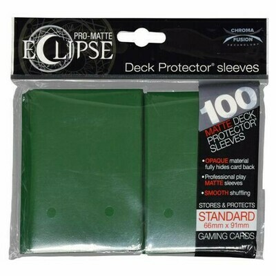 PRO MATTE ECLIPSE SLEEVES 100 COUNT DRK GREEN