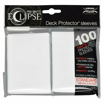 PRO MATTE ECLIPSE SLEEVES 100 COUNT WHITE