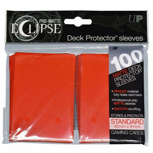 PRO MATTE ECLIPSE SLEEVES 100 COUNT RED