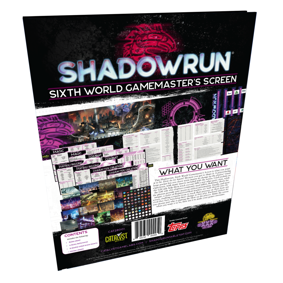Shadowrun Gamemaster's Screen