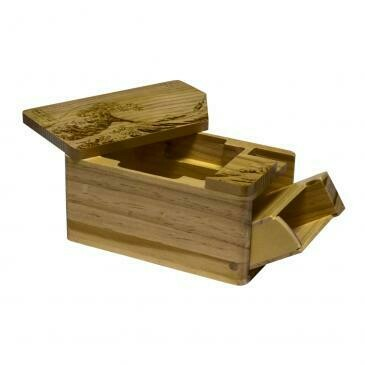 UP Deck Box Hako Fine AR Wooden Great Wave