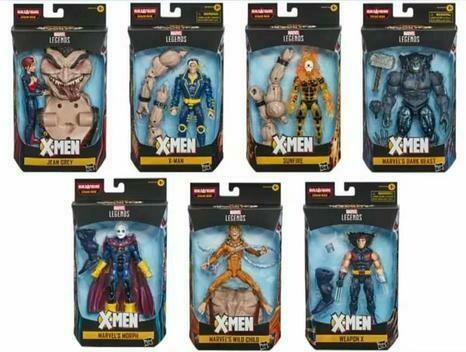 Marvel X-Men Legends Build-a-figure Age Of Apocalypse Lot