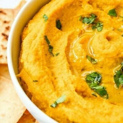 Hummus z pieczonej marchwi z dodatkiem miodu