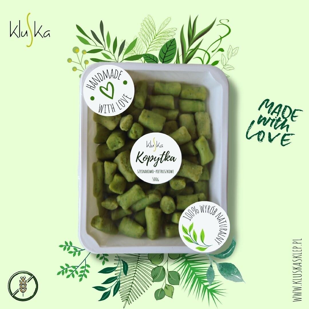 Zielone kopytka pietruszkowo-szpinakowe