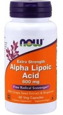 Ácido Alfa Lipoico 600 Mg Now 120 Caps