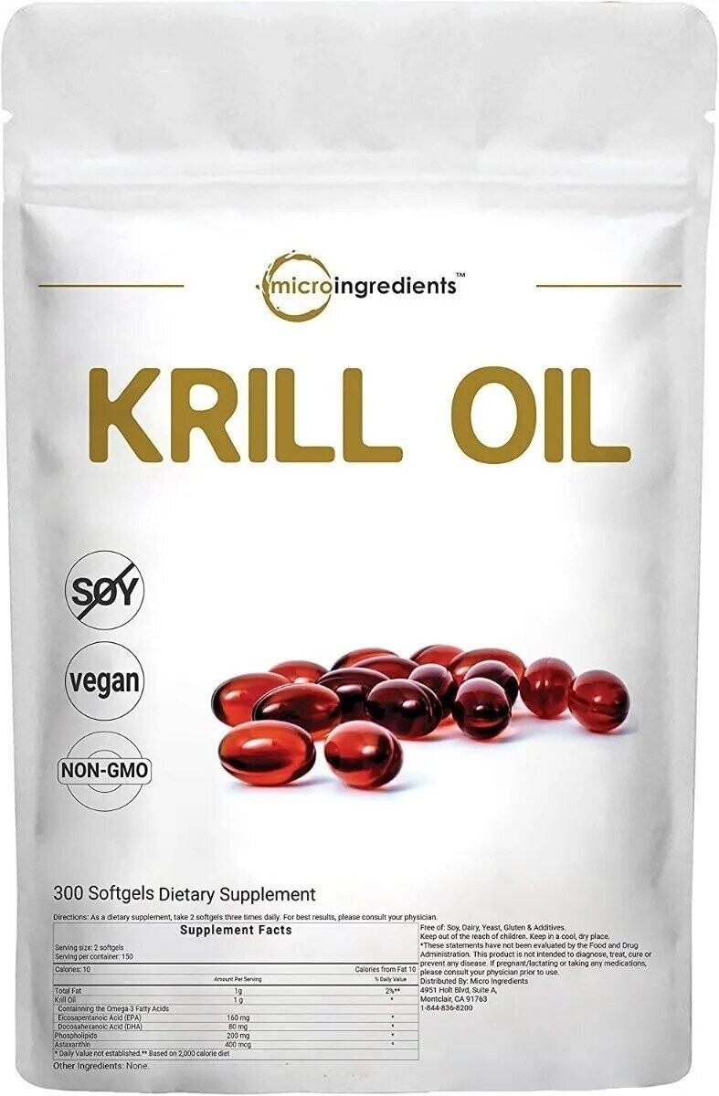 Aceite De Krill 500mg , 300 Capsulas