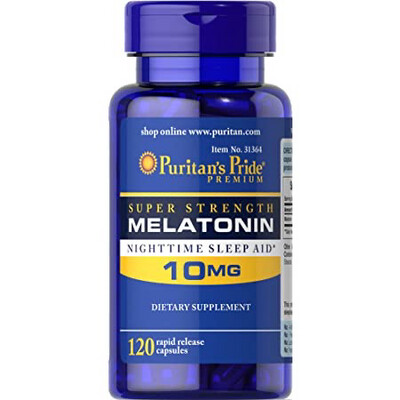 Melatonina 10mg Puritan's Pride X 60 Capsulas Insomnio