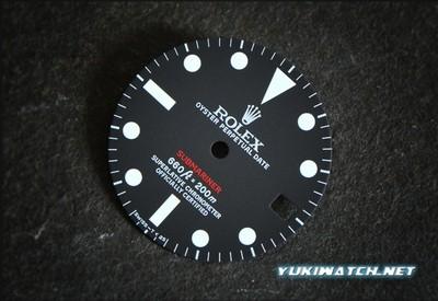 Sub 1680 red white lume ETA dial