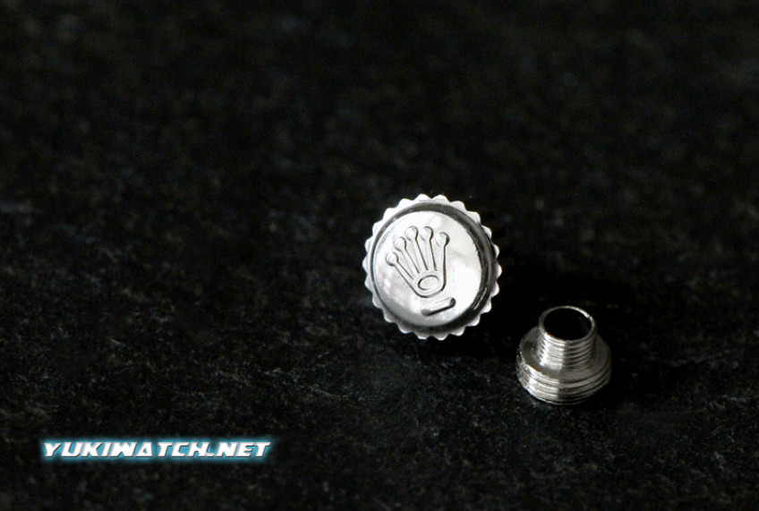 Rolex 6mm crown (small tube)