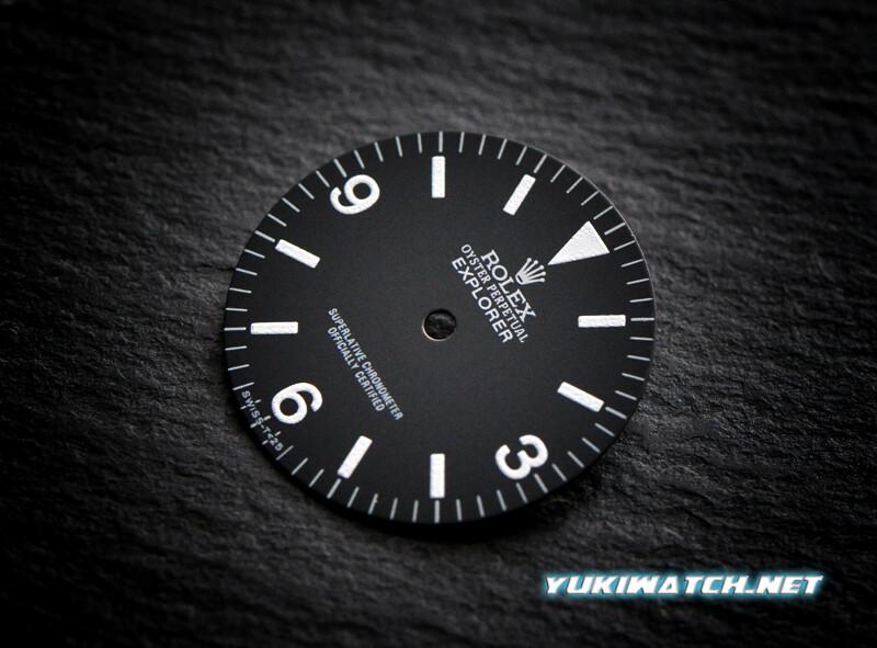 Explorer I 1016 dial wht lume for ETA