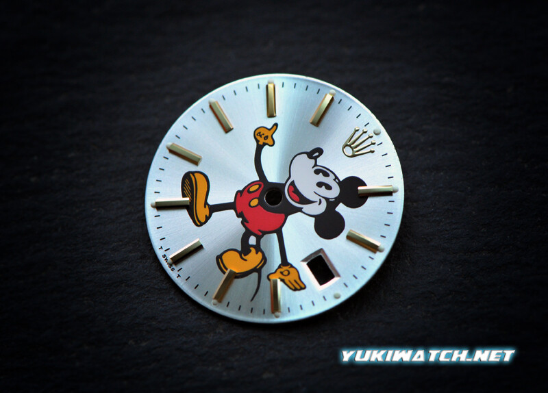 Oyster Date 15000 Mickey gold index Dial