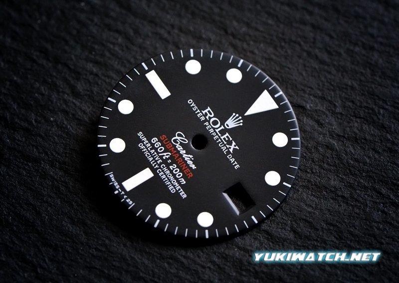 Submariner 1680 double name dial wht lume