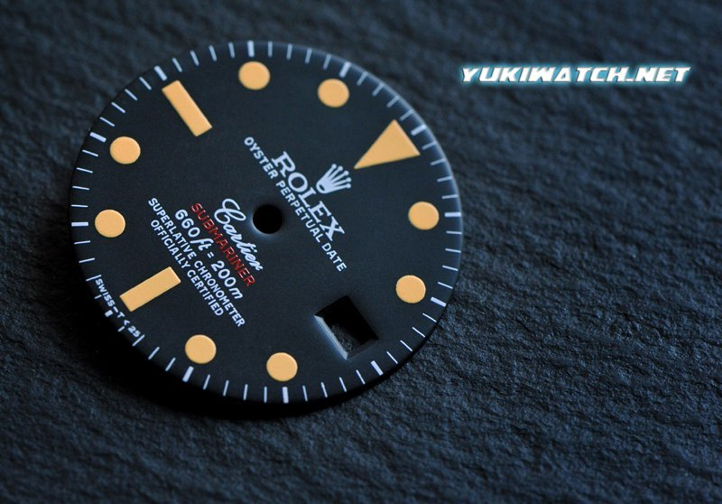 Submariner 1680 double name dial