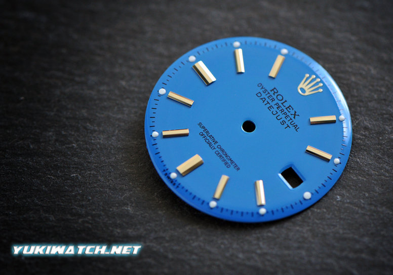 Datejust 1601 stella blue dial