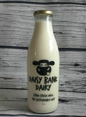 Local Organic Milk 1ltr - Daisy Bank Dairy - Gate Farm, Llandyssil