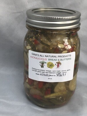 Kickalicious Bread and Butter pickles.