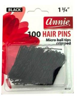 100 Hair Pins 1 3/4 '' Micro Ball Tips Crimped