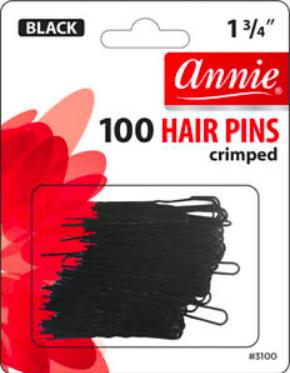 100 Hair Pins Crimped 1.75 Inch No Ball