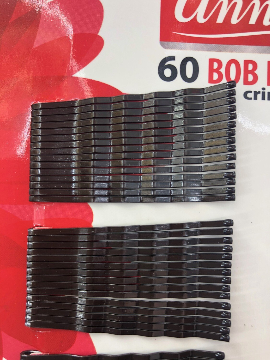 60 Bob Pins Crimped Brown Annie #3304