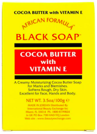 African Formula Black Soap Cocoa Butter With Vitamin E 3.5oz