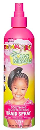 African Pride Dreamkids Braid Spray Soothing Moisturizing