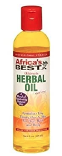 Africa's Best Ultimate Herbal Oil For Hair, Bath, Nails, And Body 8oz