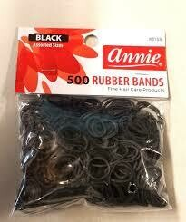 Elastic Rubberband Black 500ct