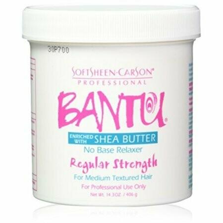 Bantu No Base Relaxer Regular Strength Enriched With Shea Butter 14.3oz