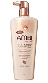 Ambi Body Care Soft & Even Creamy Oil Lotion 12oz