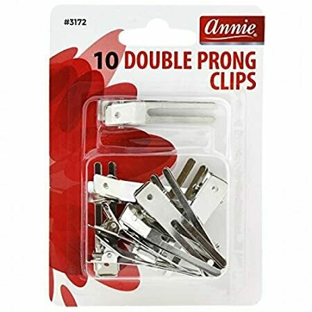 Annie Double Prong Clips 10 Ct #3172