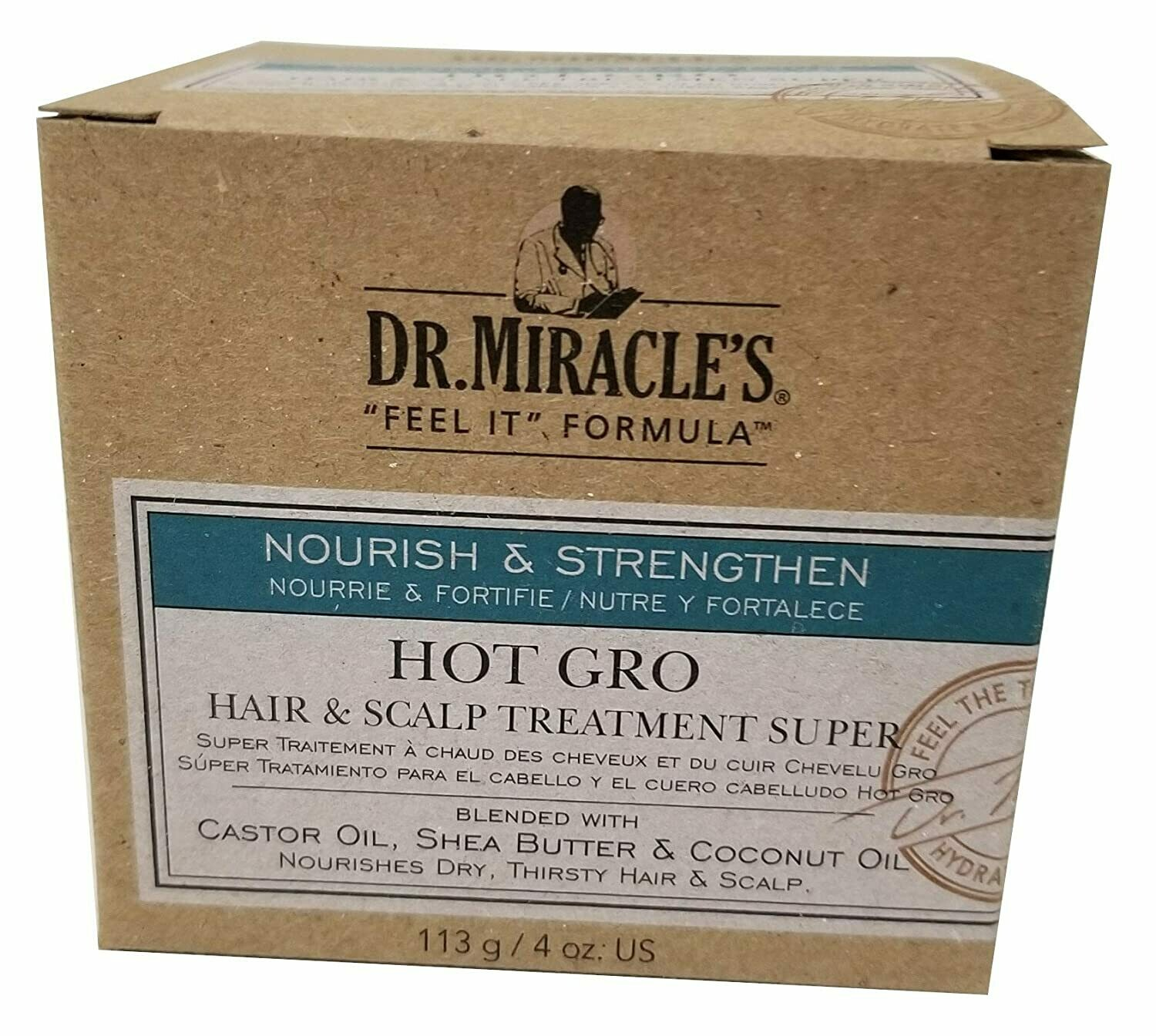 Dr Miracle's Hot Gro Hair And S Alp Treatment 4oz