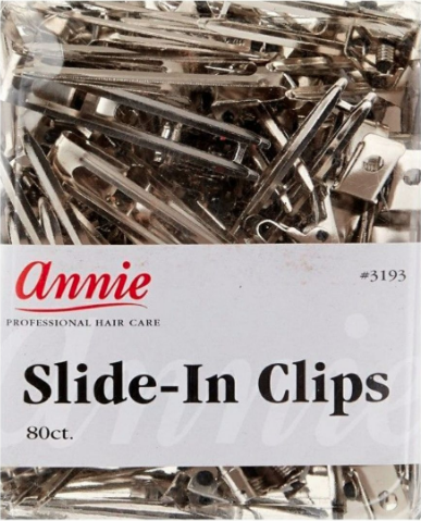 Annie Prof Hair Care Box Of 80 Double Prong Clips