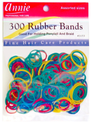 Annie 300 Rubber Bands Assorted Sizes