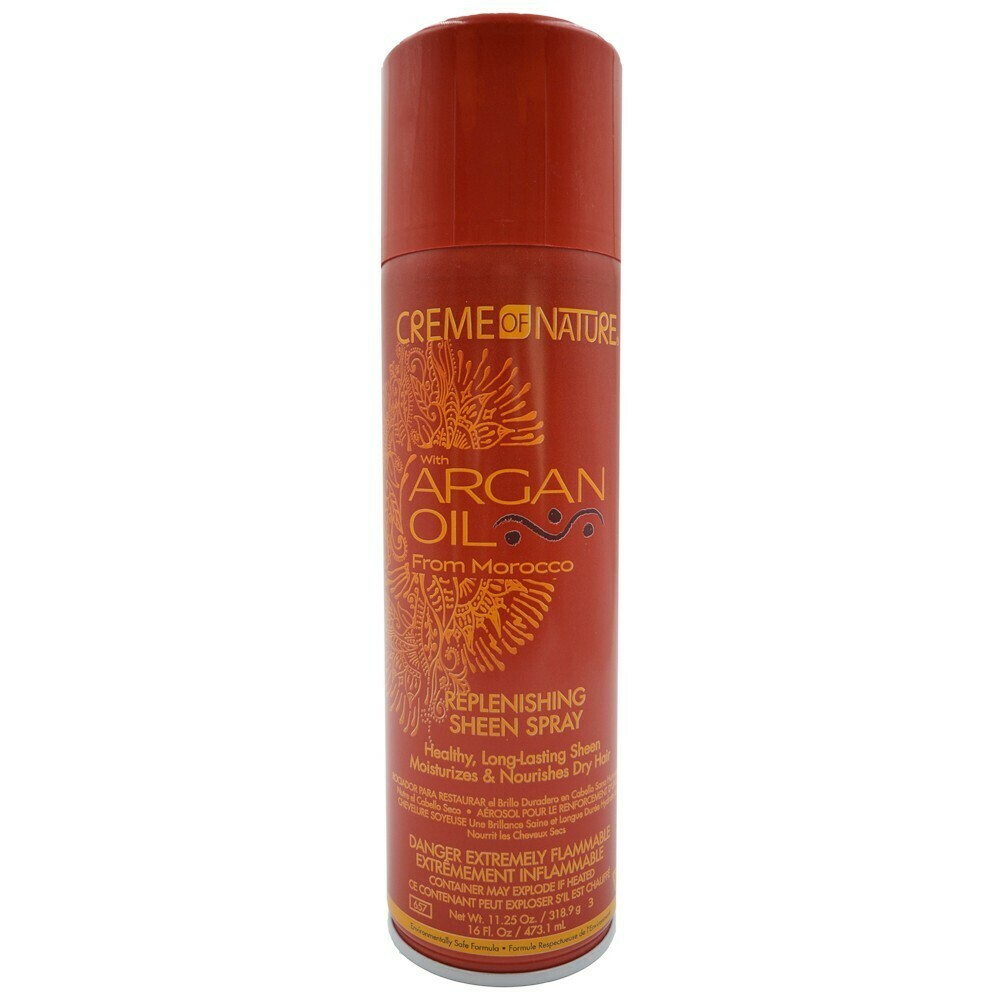 Creme Of Nature Argan Oil Replenishing Sheen Spray 16oz