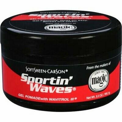 Softsheen Carson Sportin' Waves Gel Pomade With Wavitrol 3.5oz