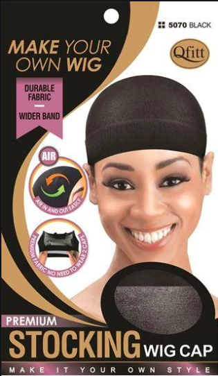 Qfitt Premium Stocking Wig Cap #5070 Black