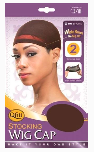 Brown Stocking Wig Cap